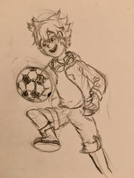 Soccer child by cindersflame