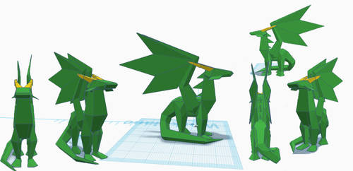 Crystal Dragon 3D model