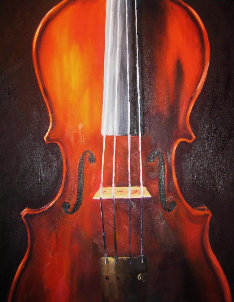 Canvas Painting Violinist