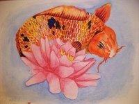 Lotus and Koi by JCBoringStudio