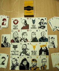 Game of thrones Cards Deck silk screen Serigraphy by redevils1989