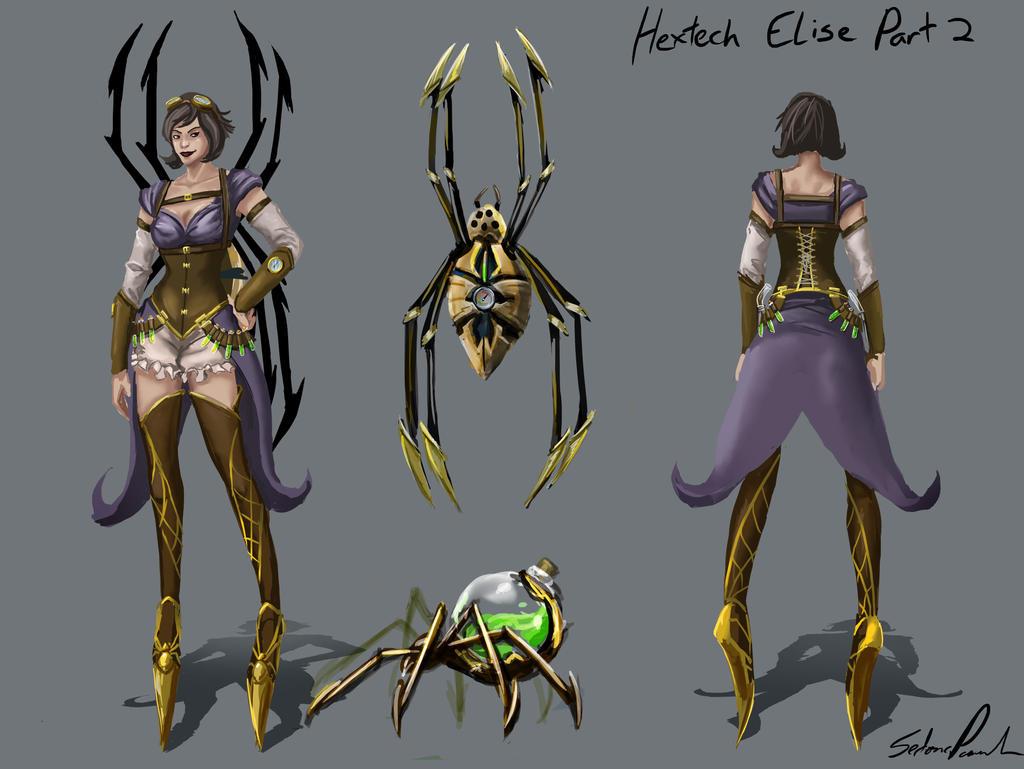 Hextech Elise Version 2 by Anodesu