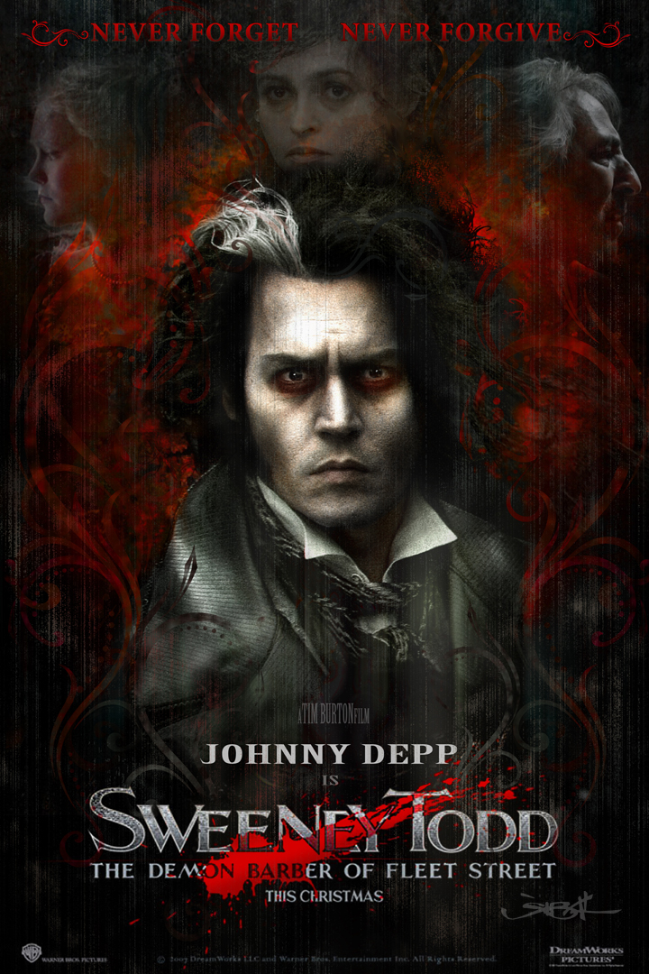 Sweeney Todd Movie Poster v2 by jonsibal