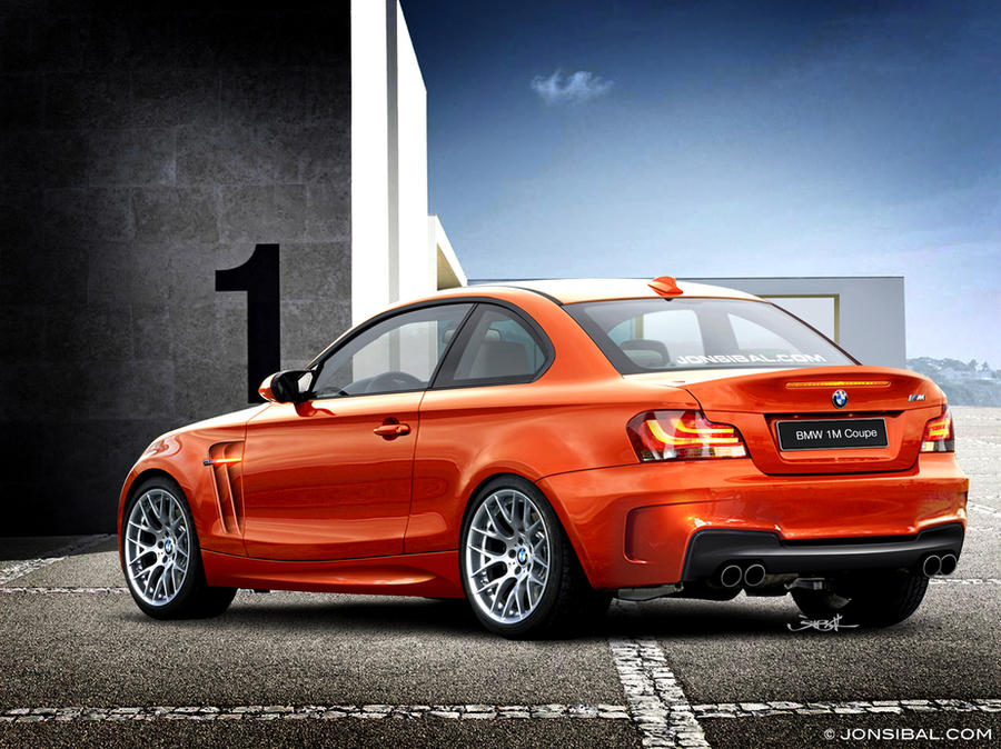 BMW 1M Coupe rear quarter view by *jonsibal on deviantART