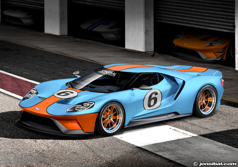 Gulf Racing Blue Paint