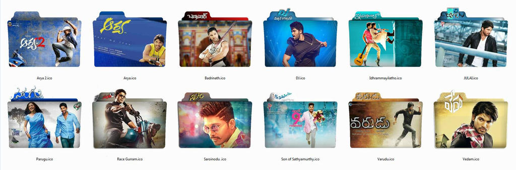 Upcoming Folder Icons Of Allu Arjun Movies by AKRB1998 on DeviantArt
