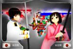 [MMDxAPH] - Japan VS Nyo!Japan