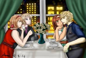 ..:.:: Double Date ::.:.. by Hebigami-Okami-77