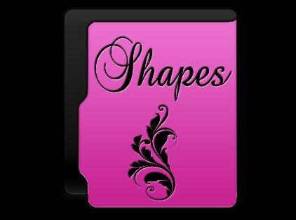 Pink shapes folder by gravitymoves