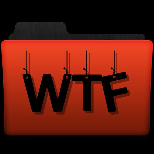 Orange WTF folder png by gravitymoves
