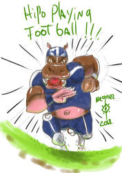 prompt#2 hippo playing football