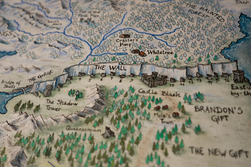 The wall hand drawn westeros map detail by klaradox on deviantart - Westeros map high resolution ...