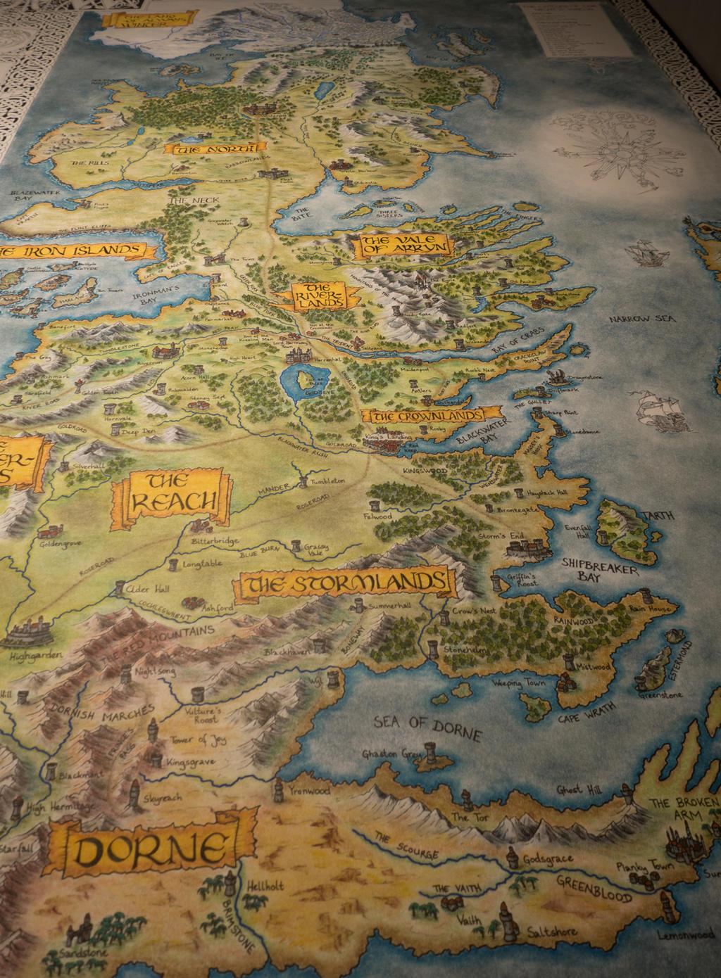 Hand drawn westeros map update by klaradox on deviantart - Westeros map high resolution ...