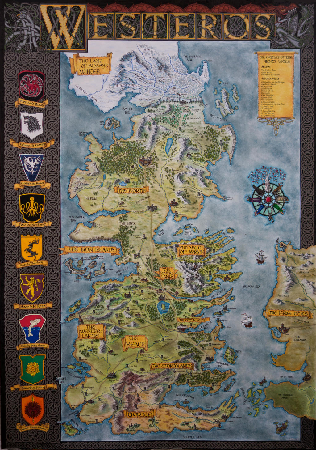 Hand drawn westeros map complete and finished map by klaradox on hand drawn westeros map complete and finished map by klaradox gumiabroncs Images