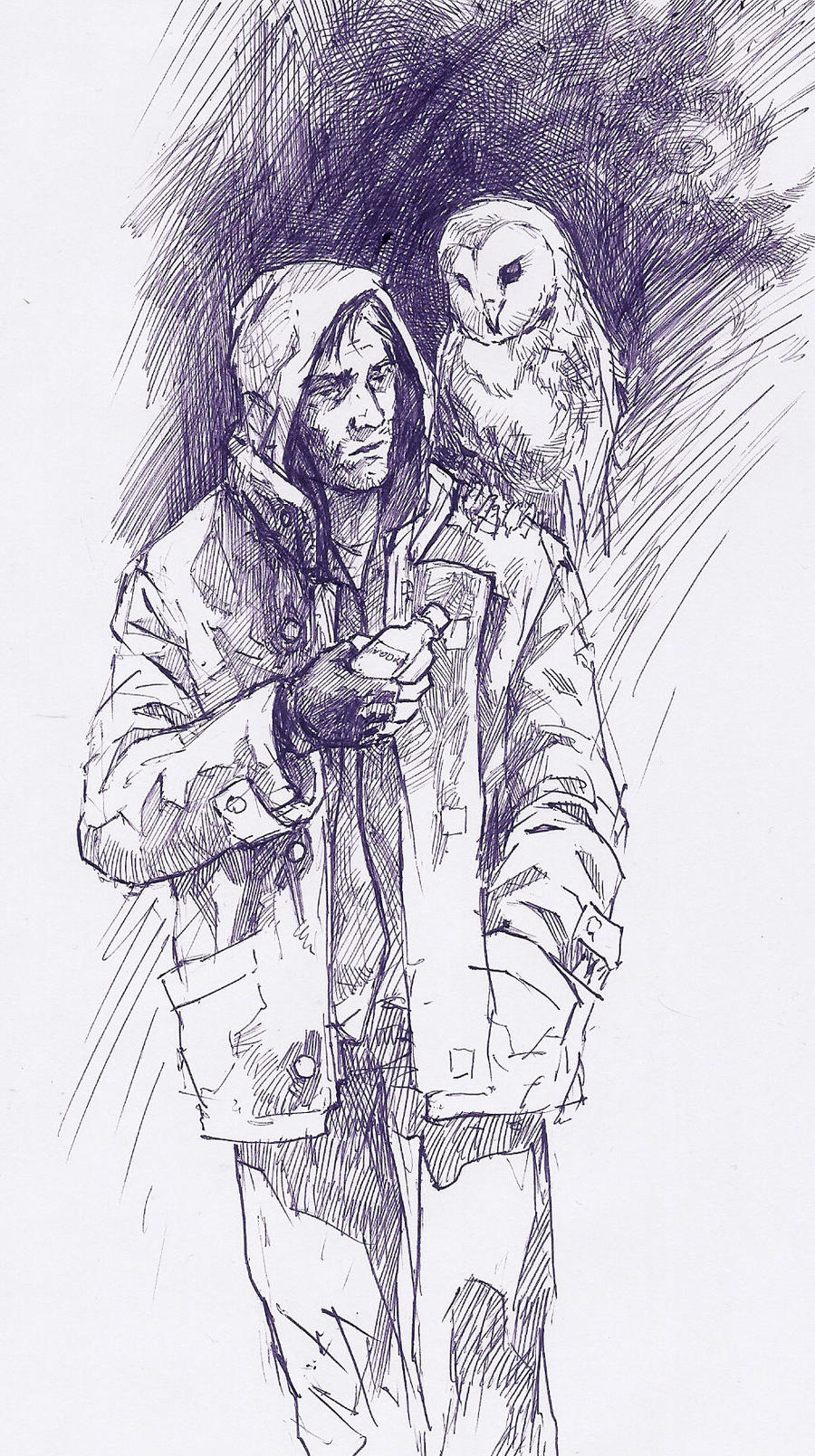 Anton Gorodetsky and Olga the Owl by Hristov13