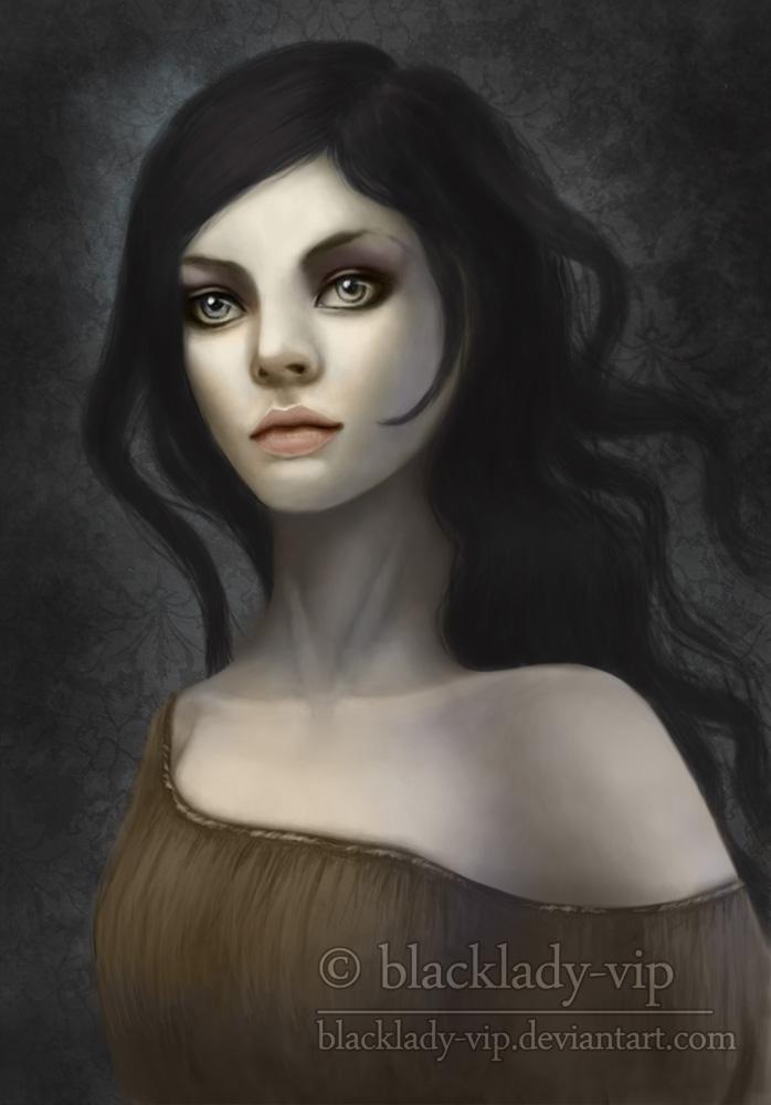 Sad Lady by blacklady-vip
