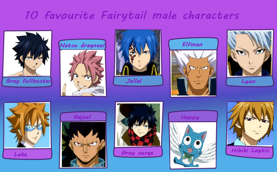 10 Favourite Fairy Tail Male Characters By SasoSakuBla