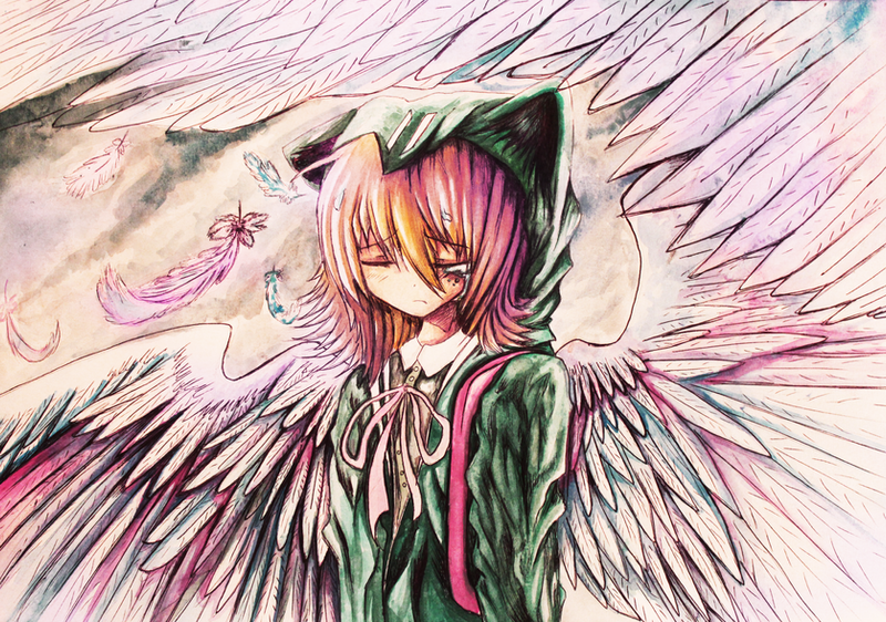 Chiaki Nanami Angel by AlicetheHeartless