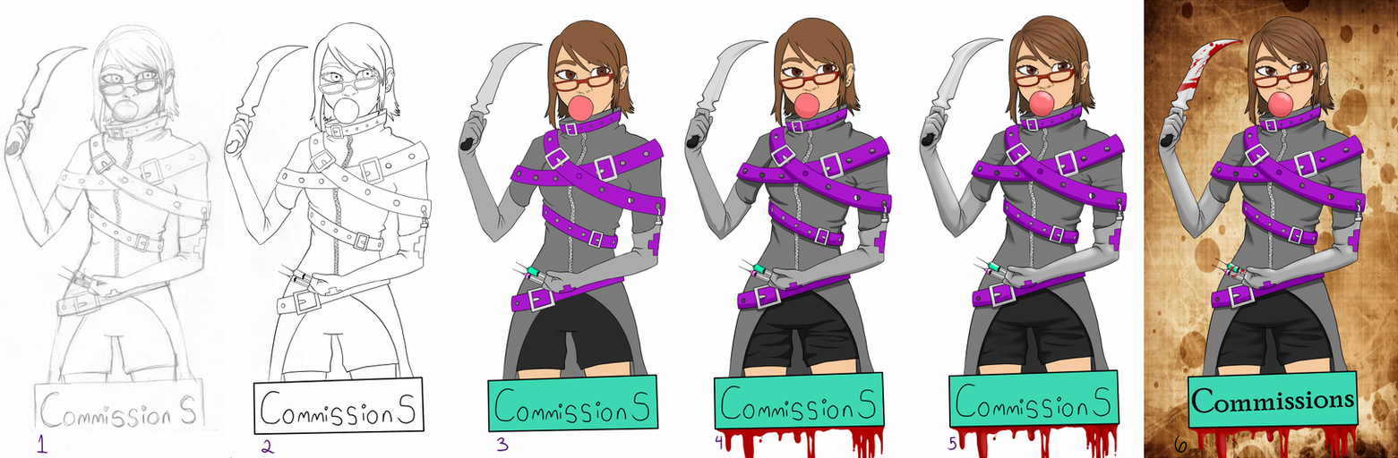Commission sheet by GoreFeathers