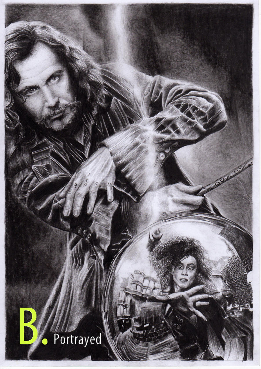Sirius Black and Bellatrix Lestrange by B-Portrayed