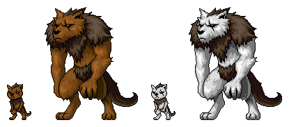 Baby Werewolf And Lycanthrope Pets by gortholomew