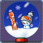 Snowboarding Snowman Snowglobe by gortholomew