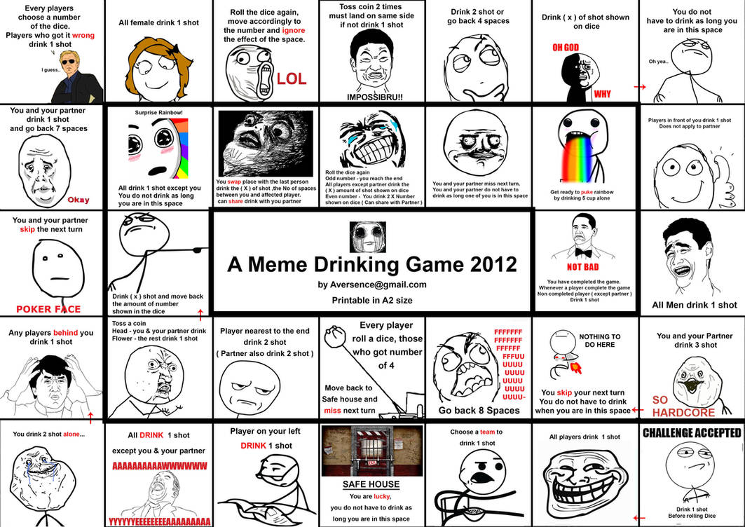 What do you meme drinking game