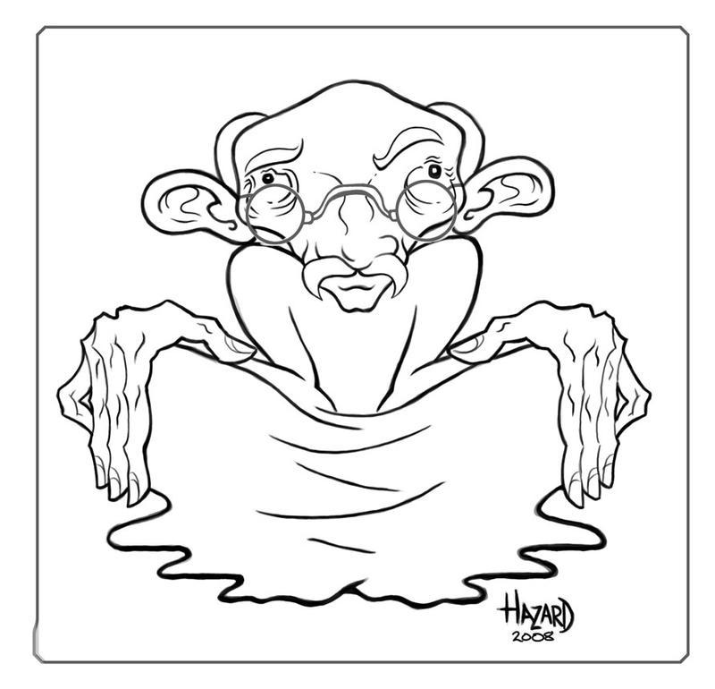 Gandhi Caricature by MRHaZaRD