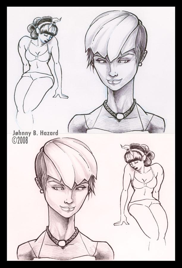 Females Sketches by MRHaZaRD