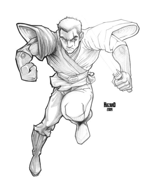 Anakin in Midair by MRHaZaRD
