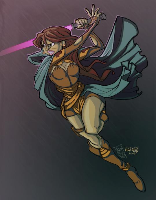 tsuji's Nelia Tenlion colored by MRHaZaRD