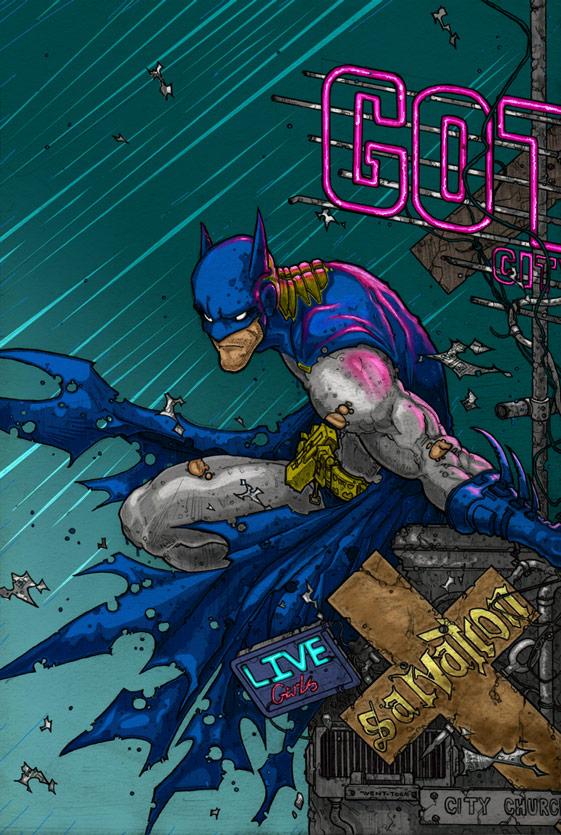 BATMAN Immune2Life Coloring by MRHaZaRD