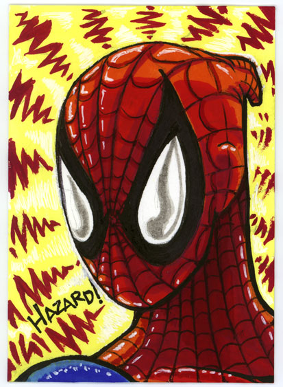 Sketchcard 001 Spidey Sense by MRHaZaRD