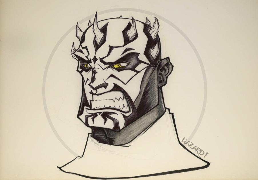 Darth Maul Sketch in Progress by MRHaZaRD