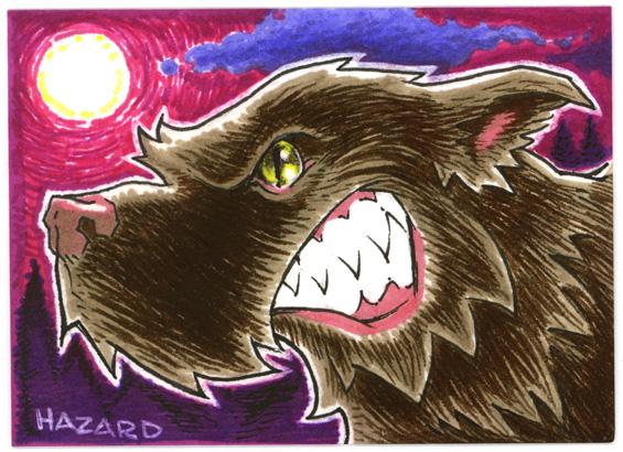 Sketchcard 003 Werewolf by MRHaZaRD