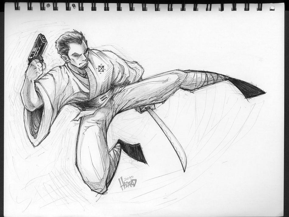 Sketches - BadasSamurai by MRHaZaRD