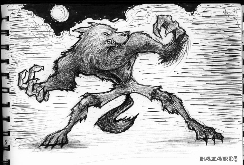 Sketches - Werewolf by MRHaZaRD