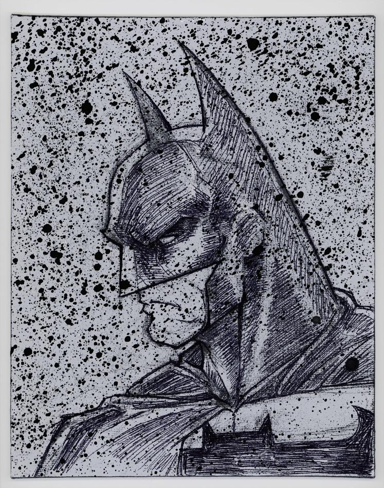 Batman Painting - Blacks by MRHaZaRD