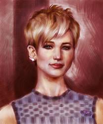 Jennifer Lawrence Portrait by MRHaZaRD