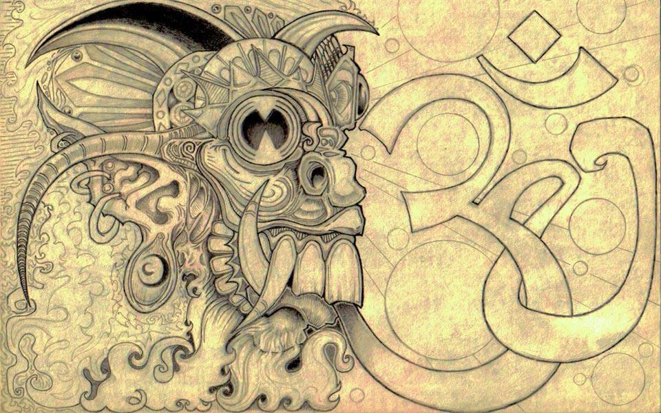 fierce buddha diety AUM by MRHaZaRD