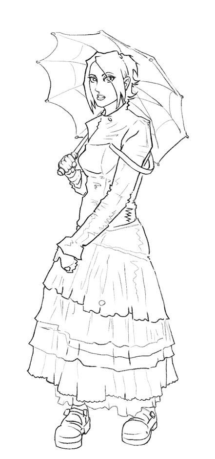 goth girl sketch by MRHaZaRD