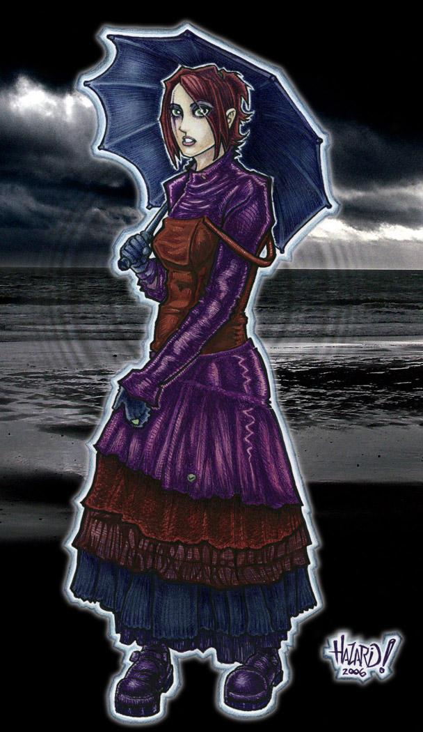 super goth girl colored v.1 by MRHaZaRD