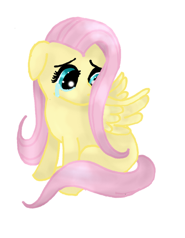 You made Fluttershy sad by Muchietan