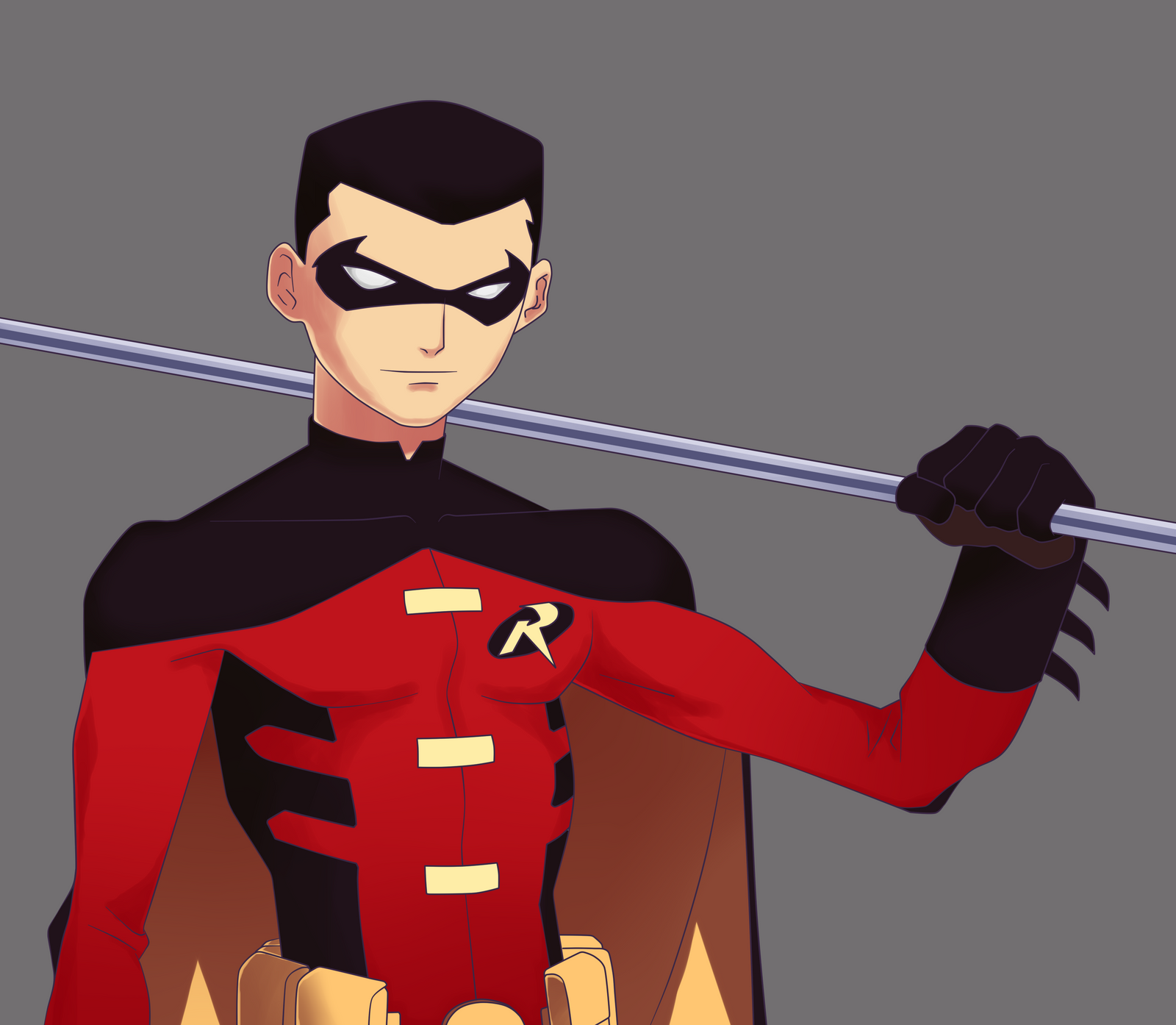 Red Robin YJ Design by Bobkitty23 on DeviantArt |Young Justice Tim Drake Red Robin