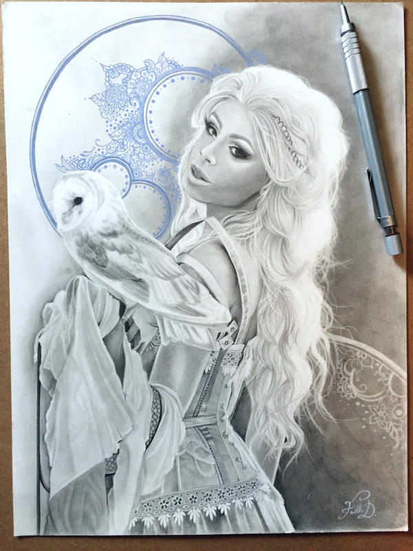 Drawing of Ophelia by FaithzX