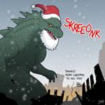 Godzilla Christmas 2014