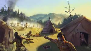 Anishnawbek ambush Iroquois by Rhineville