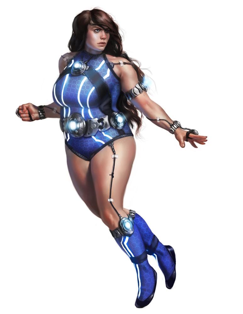 Karen Constantine AKA Quanta (superhero contest) by Rhineville