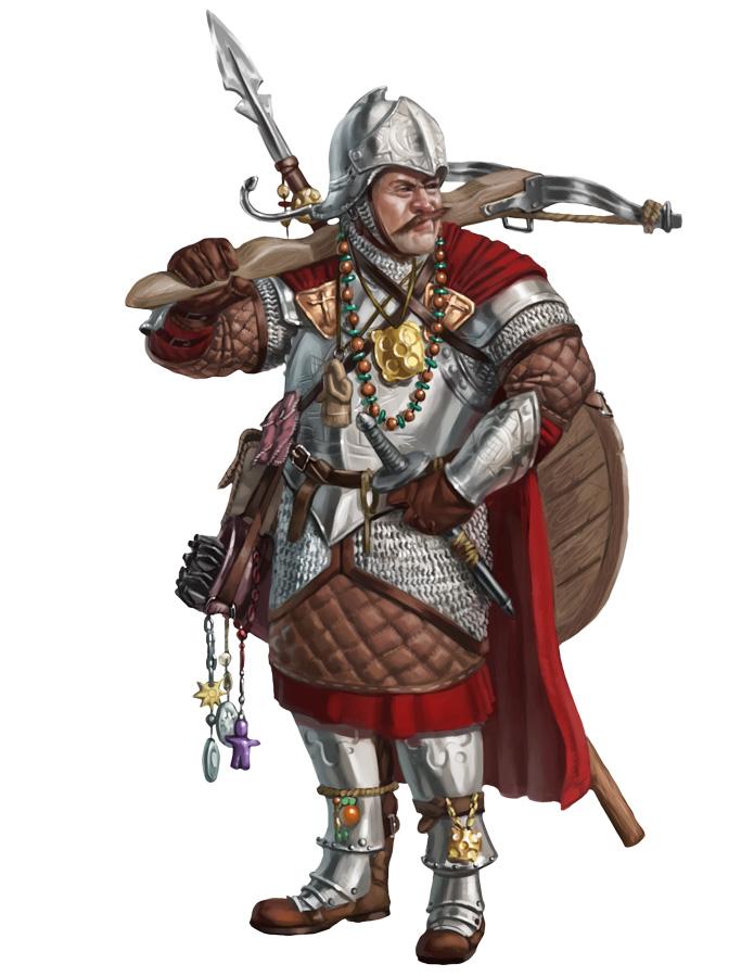 Corwyn, Superstitious Mercenary by Rhineville