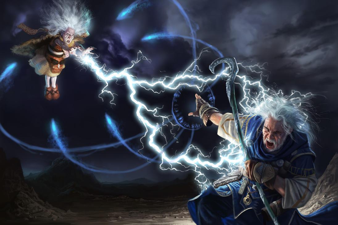 Ezren Vs Storm Hag by Rhineville